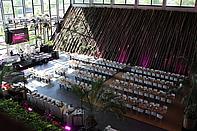 Veranstaltung mit Bühne in der Orangerie