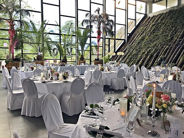 Heiraten unter Palmen in der Biosphäre Potsdam